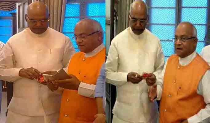 अपने मित्र व राष्ट्रपति पद के उम्मीदवार श्री रामनाथ कोविंद को शुभकामनाएं देते हुए डॉ. वेदप्रताप वैदिक