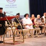 भोपाल के राजभवन में महात्मा गांधी के 150 वीं जयंति के समारोह को संबोधित करते हुए डॉ. वेदप्रताप वैदिक