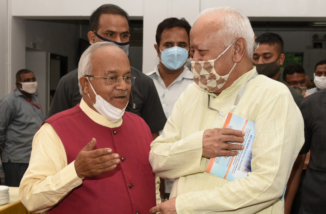 मामा मणिकचंद वाजपेयी के शताब्दी समारोह के बाद श्री मोहन भागवत और डॉ. वेदप्रताप वैदिक